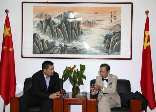 韦政岳秘书长在京会见马骏院长