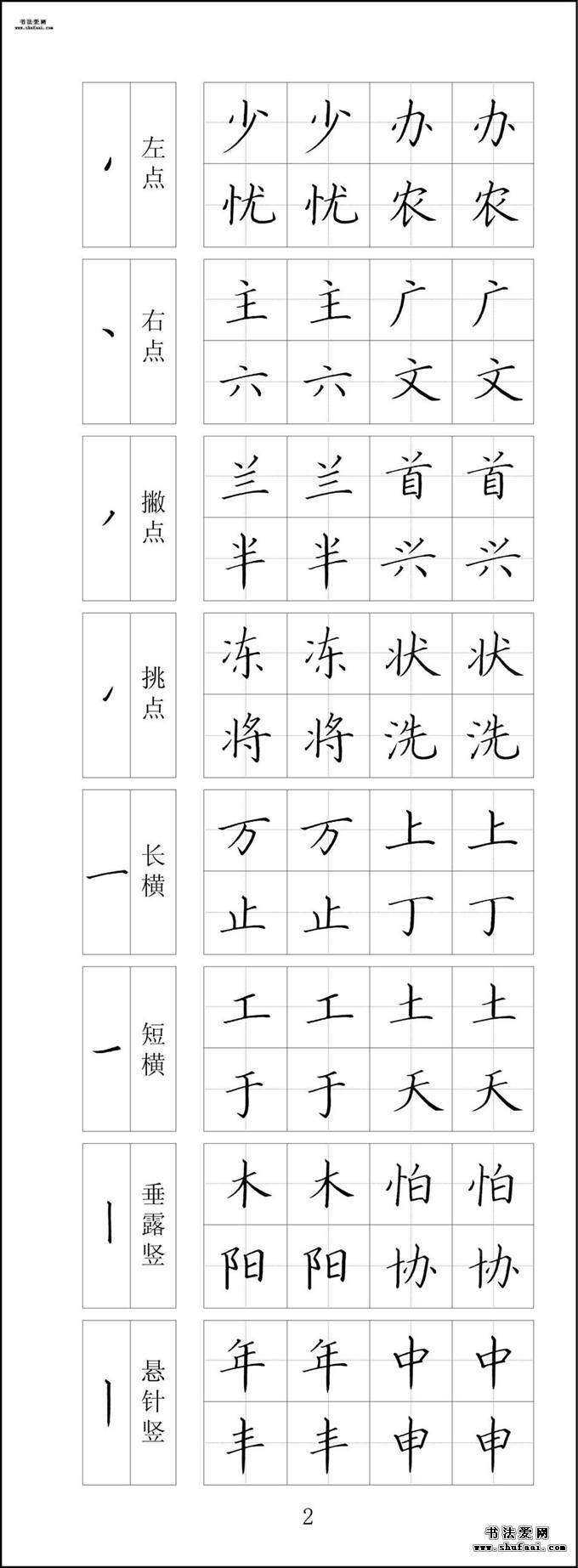 钢笔字帖全套下载  第一套:1-10张 第【2】张