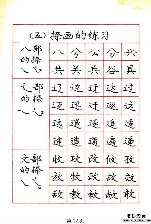 庞中华钢笔楷书规范字帖下载