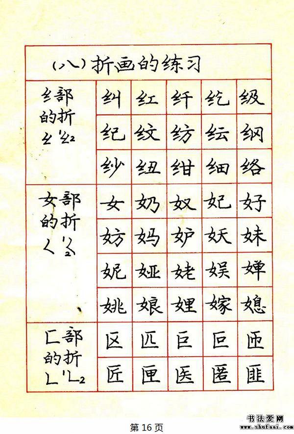 庞中华钢笔楷书规范字帖下载 2