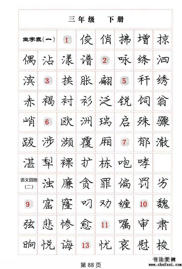庞中华钢笔楷书规范字帖下载 8