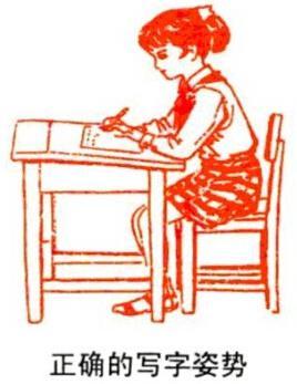 练习硬笔书法的姿势