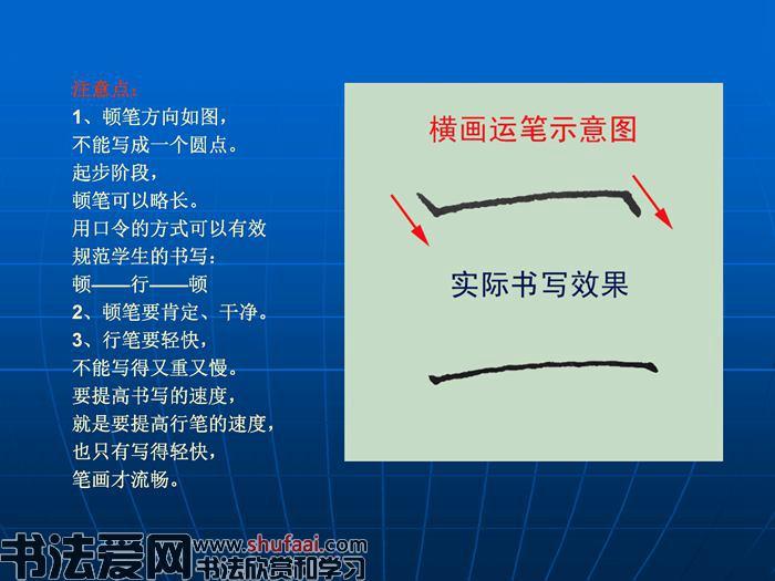 硬笔书法 8个基本笔画图解 3
