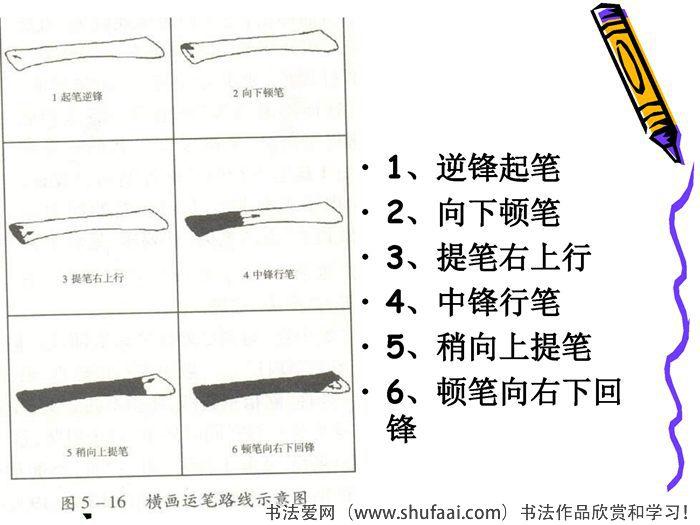 毛笔字教学《正楷的基本笔画》(6)