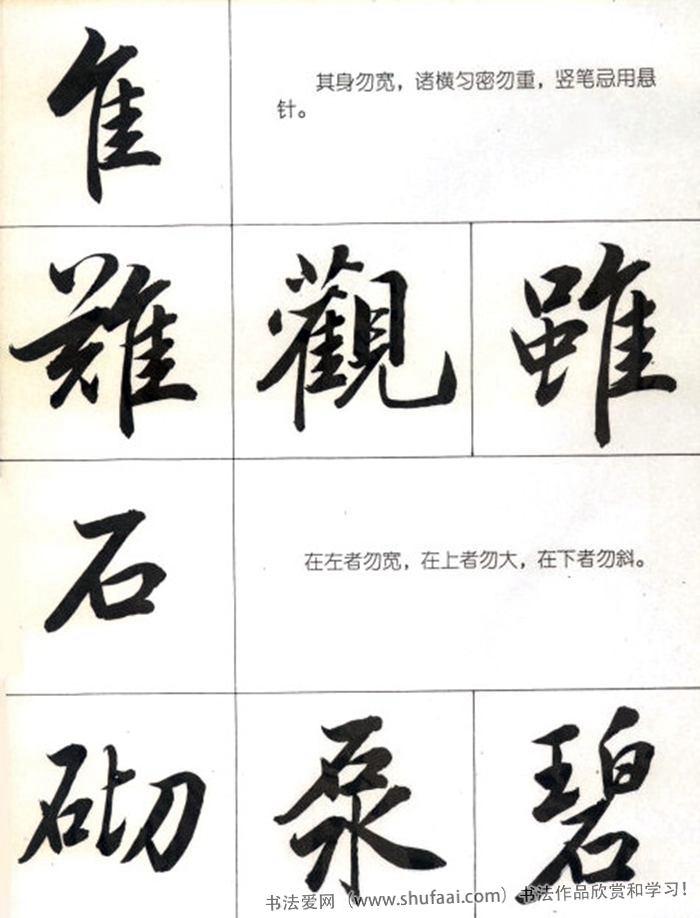 书法教学字帖《行书结构笔法图》高清字帖 第【1】张