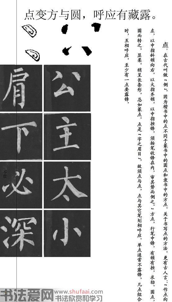 柳公权《柳体书法要诀》楷书学习字帖 第【1】张
