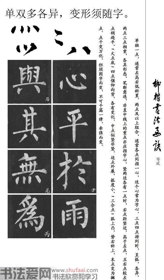 柳公权《柳体书法要诀》楷书学习字帖 第【2】张