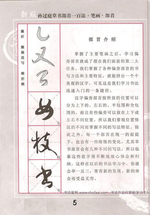 《孙过庭草书部首一百法》历代名家字帖 第【7】张