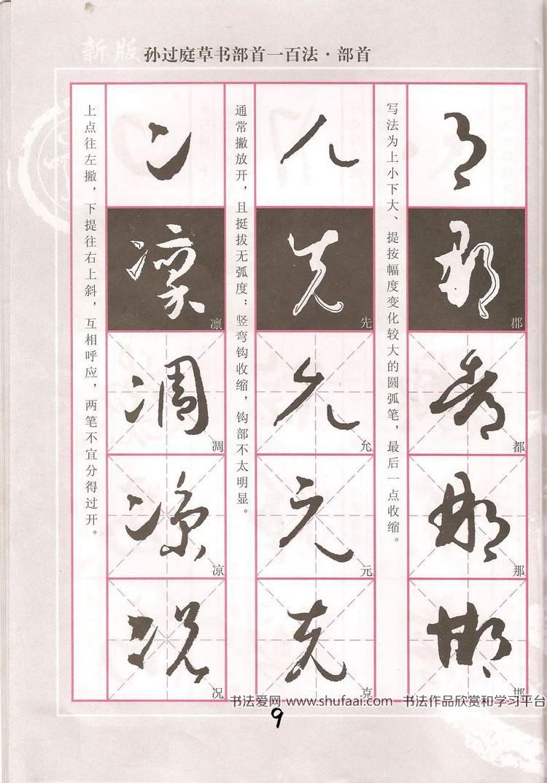 《孙过庭草书部首一百法》历代名家字帖 第【11】张