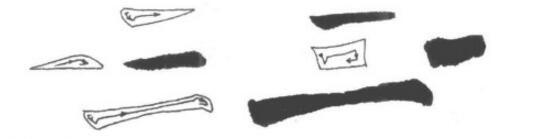 横的写法如图: