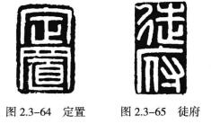 """如""""定置""""(图2.3-64)、""""徒府""""(图2.3-65)"""