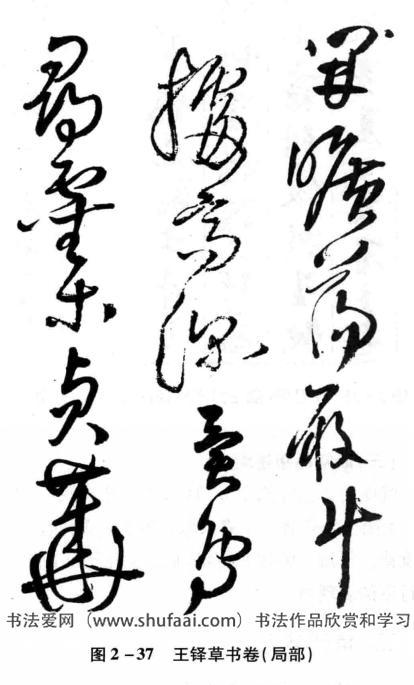 图2—37王铎草书卷(局部)