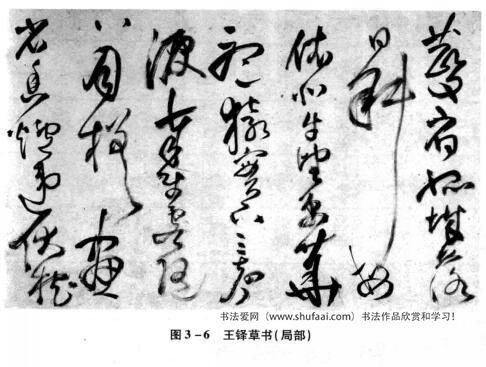 图3—6王铎草书(局部