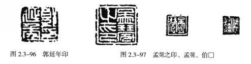 """""""孟莞之印、孟凳、伯口""""(图2.3-97)"""