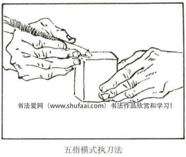 五指横式执刀法