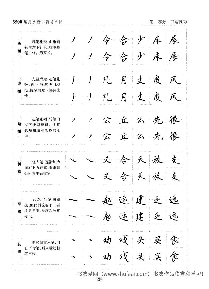 3500常用字楷书钢笔字帖 第【2】张