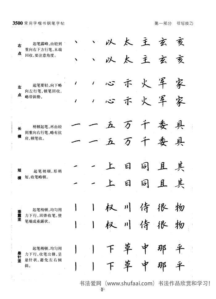 3500常用字楷书钢笔字帖 第【1】张