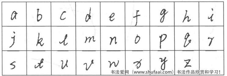 二、小写拼音字母的书写体