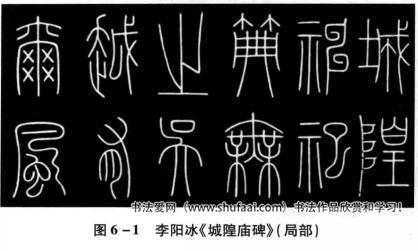 图6—1李阳冰《城隍庙碑》(局部)